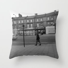 Man Walking Throw Pillow