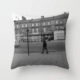 Man Walking Throw Pillow
