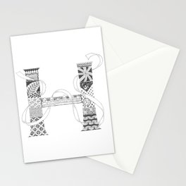 "Zenletter ""H"" Stationery Cards"