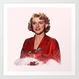 Rosemary Clooney - White Christmas -Watercolor #2 Art Print