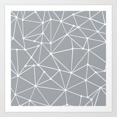 Ab Out Spots Grey Art Print