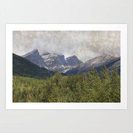 The Three Sisters - Canadian Rockies Art Print