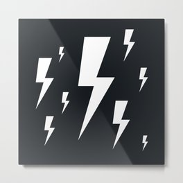 Lightning bolts Metal Print