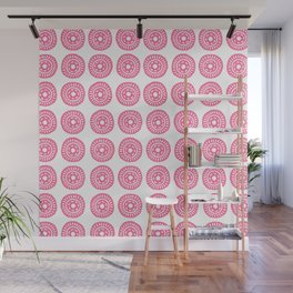 Abstract circle hand carved stamp Wall Mural