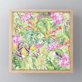 Tropical Garden 1A #society6 Framed Mini Art Print