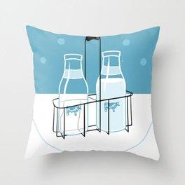 Milk Clock Throw Pillow