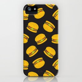 Burger Pattern  Everett co iPhone Case