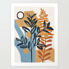 Abstract Plant 05 Art Print