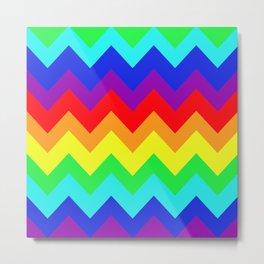 Rainbow Chevron Delight Metal Print