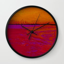 Square Abstract No. 8B by Kathy Morton Stanion Wall Clock
