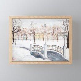 Locks on Little Lovers Bridge Framed Mini Art Print