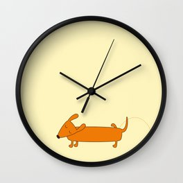 Cute pissing dachshund Wall Clock