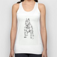 pit bull Tank Tops featuring Pit Bull  by RJsART