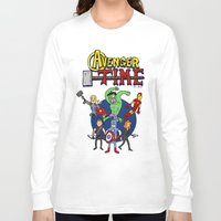 avenger Long Sleeve T-shirts featuring Avenger Time by MattHercock