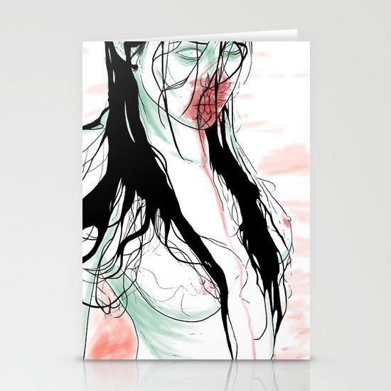 Living Dead Girl Stationery Cards