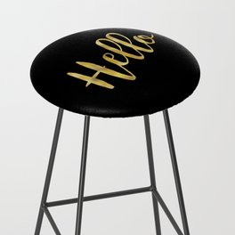 Hello in Gold and Black Bar Stool