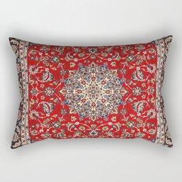 Fine Silk & Wool Isfahan Persian Rug Print Rectangular Pillow