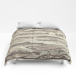 father's day fisherman gifts whitewashed wood lakehouse freshwater fish Comforters