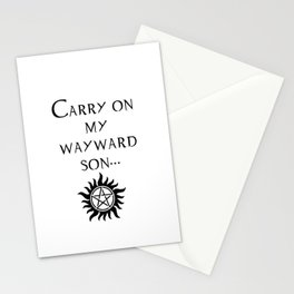 Carry On My Wayward Son.  Stationery Cards