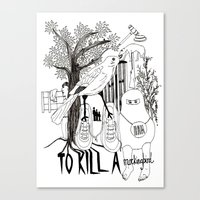 to kill a mockingbird Canvas Prints featuring To Kill a Mockingbird by Louise Norman