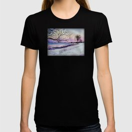 Winter evening in Racine T-shirt