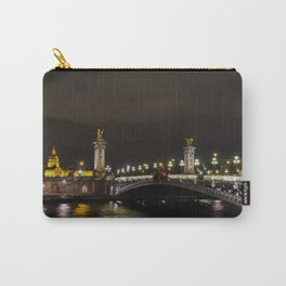 Pont Alexandre III and Invalid at night - Paris, France Carry-All Pouch