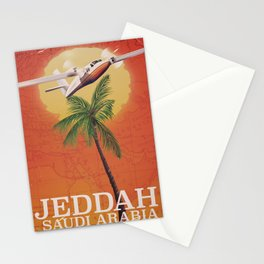 Jeddah Saudi Arabia Vintage travel poster Stationery Cards