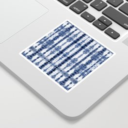 Tiki Shibori Blue Sticker