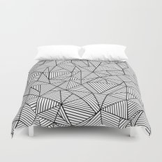 Abstraction Lines #2 Black and White Duvet Cover