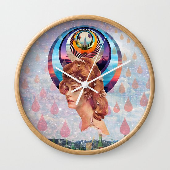 Teardrops Wall Clock