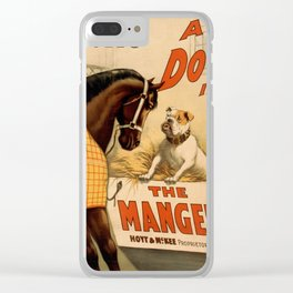 Vintage poster - A Dog in the Manger Clear iPhone Case