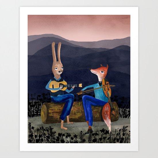 Smoky Mountain Gypsy Jazz Art Print