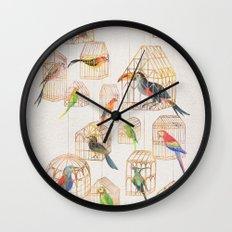 Architectural Aviary Wall Clock