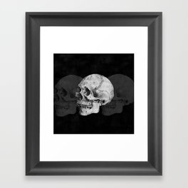We Left As Skeletons  Framed Art Print