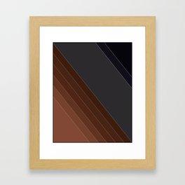 Brown-gray diagonal lines Framed Art Print