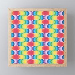 Rainbow Dragon Scales 2 Framed Mini Art Print