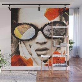 poppy pop (kate Moss) Wall Mural