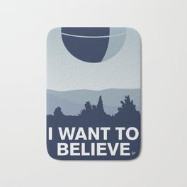 My I want to believe minimal poster-deathstar Bath Mat