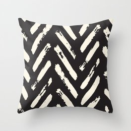 Retro Chevron Pattern Throw Pillow