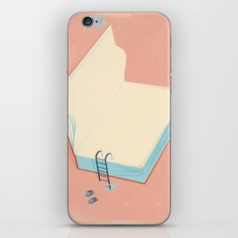 Invite to reading iPhone Skin