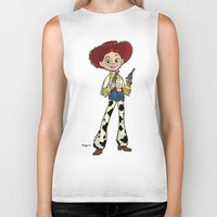 toy story Biker Tanks featuring Toy Story | Jessie by Brave Tiger Designs