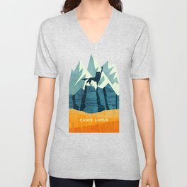 Canis Lupus: What a beautiful creature. I have a Phobia of Wolves. Unisex V-Neck