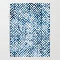 Boho Blue Shibori Tribal Pattern by meganmorrisart
