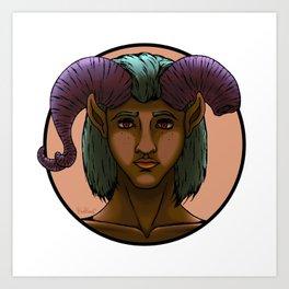 Demon Portrait Series - 003 Art Print