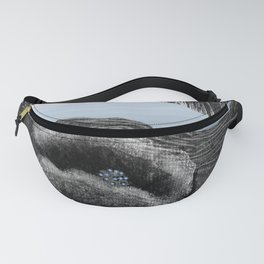Dark flower and blue rivers Fanny Pack