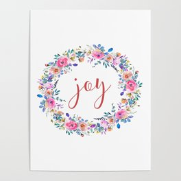 Joy, Modern Wall Art, Printable Art, Typography Quote Poster
