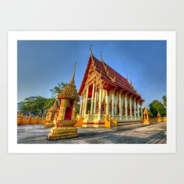 Temple Yard Thailand Art Print