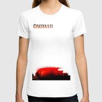 cincinnati T-shirts featuring Cities Of America: Cincinnati  by Brandon sawyer