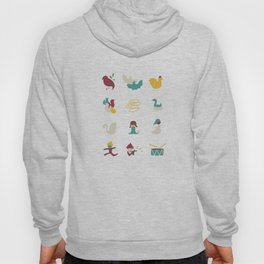 12 Days of Christmas Greeting Card Hoody