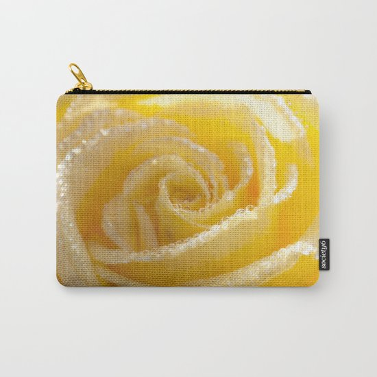 Yellow Romance - Yellow Rose with sparkling waterdrops - Roses Carry-All Pouch
